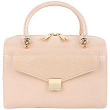 Buy Ted Baker Bexie Leather Bowling Across Body Bag, Nude Online at johnlewis.com