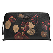 Buy Coach Floral Print Embossed Purse, Black Online at johnlewis.com