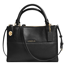Buy Coach Borough Mini Turnlock Leather Across Body Bag, Black Online at johnlewis.com
