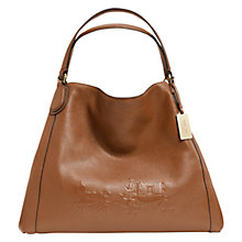 Buy Coach Edie Large Embossed Shoulder Bag Online at johnlewis.com