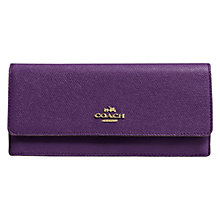 Buy Coach Embossed Leather Wallet, Purple Online at johnlewis.com