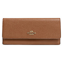 Buy Coach Embossed Textured Leather Wallet, Tan Online at johnlewis.com