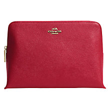 Buy Coach Embossed Leather Medium Cosmetic Case Online at johnlewis.com