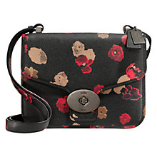 Buy Coach Page Flap Leather Floral Shoulder Bag, Multi Online at johnlewis.com