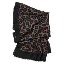Buy Coach Ocelot Shawl, Black/Multi Online at johnlewis.com