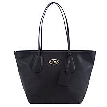 Buy Coach Taxi Zip Leather Tote Bag, Black Online at johnlewis.com