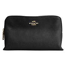 Buy Coach Small Leather Cosmetic Case, Black Online at johnlewis.com