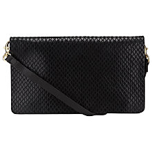 Buy COLLECTION by John Lewis Cora Small Leather Strap Clutch Bag, Black Online at johnlewis.com