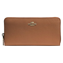 Buy Coach Accordion Large Ziparound Leather Purse Online at johnlewis.com