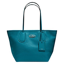 Buy Coach Taxi Zip Leather Tote Bag, Green Online at johnlewis.com