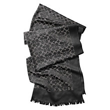 Buy Coach Signature C Stole, Black/Grey Online at johnlewis.com