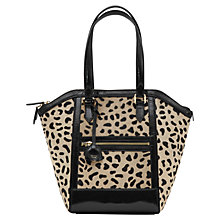 Buy Reiss Marlo Animal Print Leather Tote Bag, Multi Online at johnlewis.com