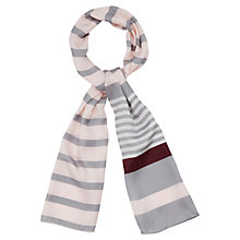 Buy Viyella Stripe Silk Scarf, Pink Online at johnlewis.com
