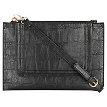 Buy Warehouse Curve Pocket Cross Body Bag, Black Online at johnlewis.com