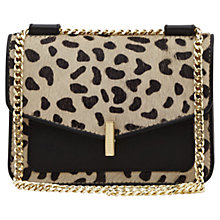 Buy Reiss Elliott Animal Print Leather Across Body Bag, Multi Online at johnlewis.com