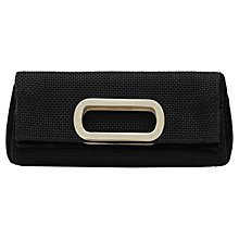 Buy Reiss Viper Fold Over Clutch Bag, Black Online at johnlewis.com