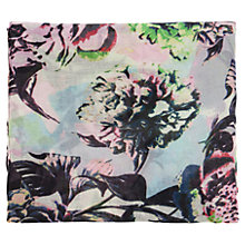 Buy Warehouse Bright Floral Scarf, Cream/Multi Online at johnlewis.com