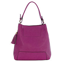 Buy Oasis Holly Hobo Bag, Bright Pink Online at johnlewis.com