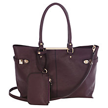 Buy Oasis Olivia Shopper Bag, Purple Online at johnlewis.com
