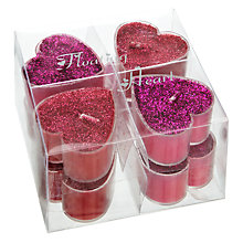 Buy John Lewis Floating Glitter Tealights, Pack of 8 Online at johnlewis.com