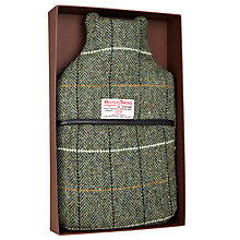 Buy John Lewis Harris Tweed Hot Water Bottle In A Box, Green, 2 Litre Online at johnlewis.com