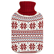 Buy John Lewis Red Nordic Knit Hot Water Bottle, 2 Litre Online at johnlewis.com
