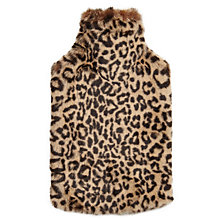 Buy John Lewis Leopard Fur Hot Water Bottle, 2 Litre Online at johnlewis.com