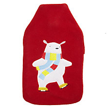 Buy John Lewis Polar Bear Hot Water Bottle, Red, 2 Litre Online at johnlewis.com