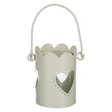 Buy John Lewis Heart Tealight Lantern Online at johnlewis.com