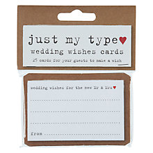 Buy Neviti Just My Type Wish Cards, Pack of 25 Online at johnlewis.com