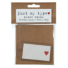 Buy Neviti Just My Type Place Cards, Pack of 50 Online at johnlewis.com