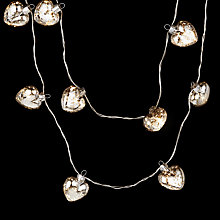 Buy John Lewis Silver Heart Line Lights, Battery-Operated, x10 Online at johnlewis.com