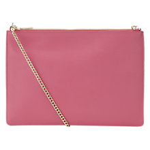 Buy Whistles Rivington Chain Pouch, Dark Pink Online at johnlewis.com