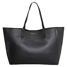 Buy Mango Pebbled Shopper Bag, Black Online at johnlewis.com