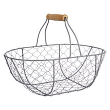 Buy John Lewis Croft Collection Oval Wire Basket Online at johnlewis.com