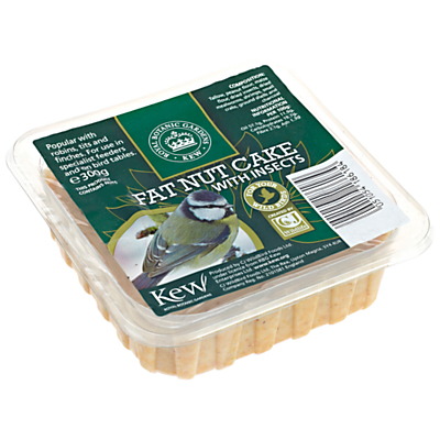 Kew Gardens Square Fat Nut Cake with Insects, 300g