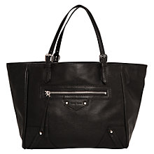 Buy Mango Pebbled Adjustable Tote Bag, Black Online at johnlewis.com