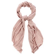 Buy Oasis Scattered Hot Fix Scarf, Pale Pink Online at johnlewis.com