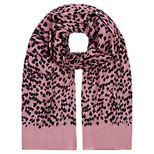 Buy NW3 by Hobbs Acorn Scarf, Pink/Black Online at johnlewis.com