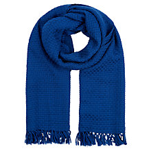 Buy Hobbs Weave Scarf, Bluebell Online at johnlewis.com