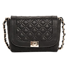 Buy Mango Quilted Across Body Bag, Black Online at johnlewis.com