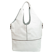 Buy Mango Faux Leather Hobo Bag, White Online at johnlewis.com