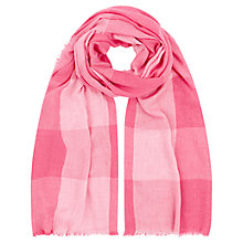 Buy Hobbs Soft Check Scarf, Barely Pink Online at johnlewis.com