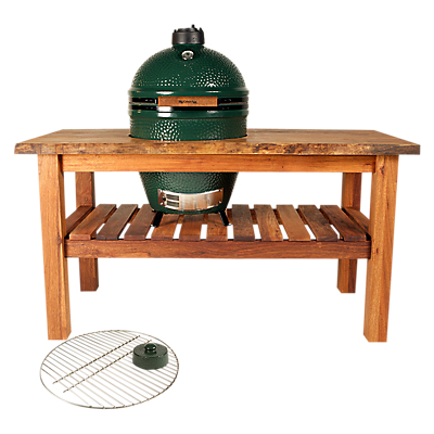 Big Green Egg Large Barbecue with Table and Charcoal