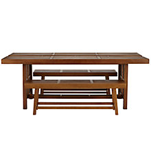 Buy John Lewis Drift 10-12 Seat Outdoor Dining Table and 2 Benches, FSC Certified Online at johnlewis.com