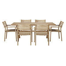 Buy John Lewis Croft Collection Islay Dining Table & 6 Dining Armchairs, Natural Online at johnlewis.com