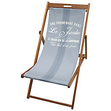 Buy John Lewis Blue Stripe Deck Chair Sling Online at johnlewis.com