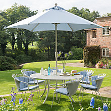 Buy John Lewis Henley by KETTLER Garden Dining Table & 4 Round Back Armchairs, Mocha Light Online at johnlewis.com