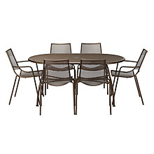 Buy EMU Ala Mesh 6-Seater Outdoor Dining Set, Bronze Online at johnlewis.com