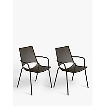 Buy John Lewis Ala Mesh Outdoor Armchair, Set of 2, Bronze Online at johnlewis.com